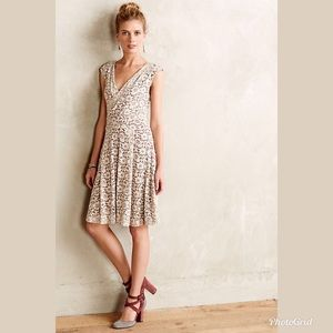 Anthropologie Maeve Lace Floral Sleeveless Dress M